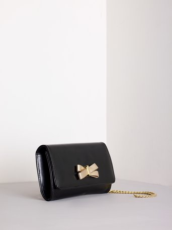 Clutch Bag with Bow Black - ACV0012188003B001