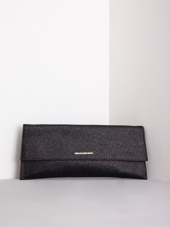 Maxi Glitter Clutch Bag Black - ACV0012189003B001