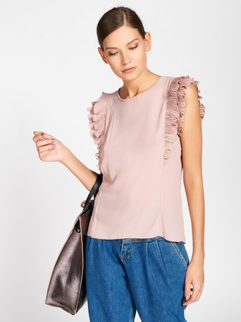 Top Mancherons en Georgette Rose - CFC0016807002B221