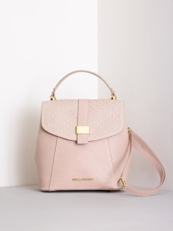 Stud-effect Leather Backpack var. Pink powder - ACV0012262003B478