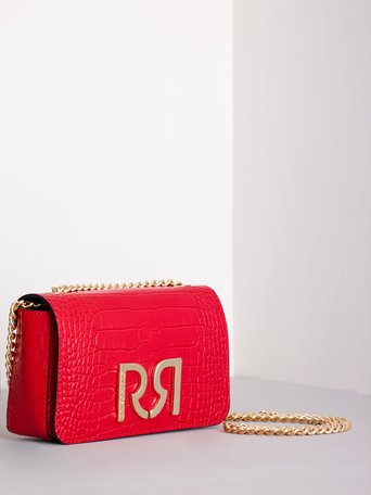 Printed Leather Shoulder Bag Red - ACV0012275003B081