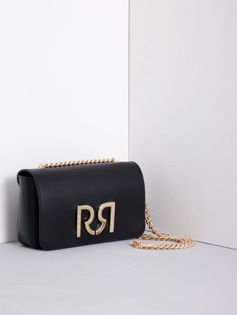 Monogram Leather Shoulder Bag Black - ACV0012274003B001