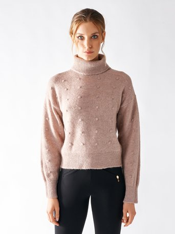 Short Turtleneck Sweater Pink - CFM0009425003B221