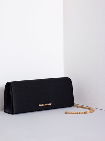 Satin Clutch Bag Black - ACV0012327003B001