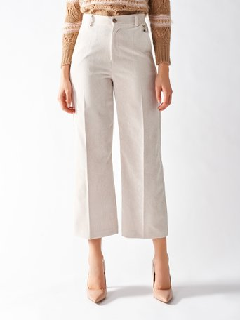 Millerighe Cropped Pants White Cream - CFC0095893003B036