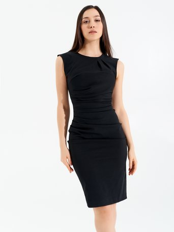 Sheath Sleeveless Dress Black - CFC0096723003B001
