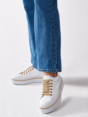 Leather Sneakers White - CAL0006075003B021