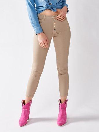 Cotton Skinny Pants Beige - CFC0096980003B101