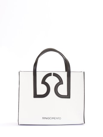 Mini Borsa Monogram in Pelle  Bianco - ACV0012465003B021