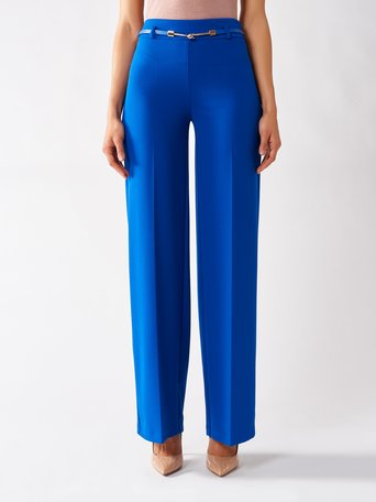 High Waist Palazzo Pants Blue China - CFC0097448003B055