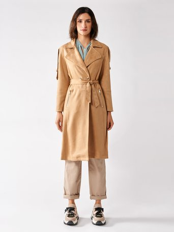 Dainetto Trench Coat Beige - CFC0097241003B101