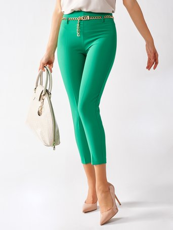Tight-fitting Cropped Trousers Green - CFC0097458003B141