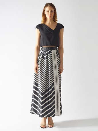 Long Dress with Slit var black - CFC0097041003B473