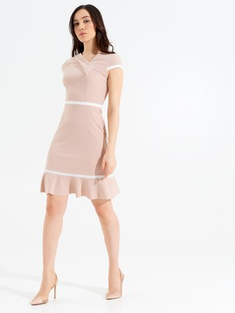 Short Dress with Piping Pink - CFC0096977003B221