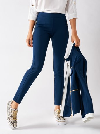Skinny Pants in Scuba Crêpe Blue - CFC0097496003B041