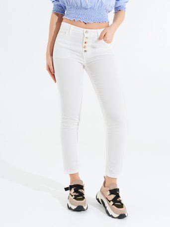 Cotton Skinny Pants White - CFC0096980003B021