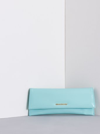 Patent Leather Clutch Bag Acquamarine green - ACV0012434003B511