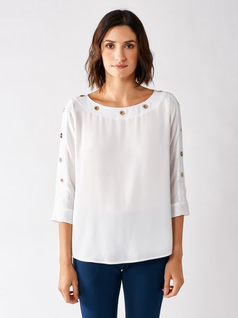 Blouse with Rings White - CFC0097270003B021