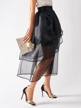 Gonna a Balze in Organza Nero - CFC0097049003B001