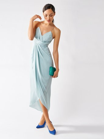 Long Empire Dress green mint - CFC0097302003B411