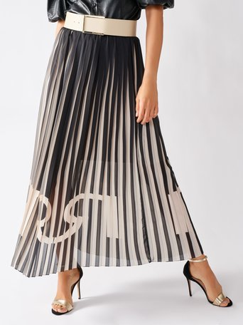 Monogram Plissé Skirt var black - CFC0097207003B473