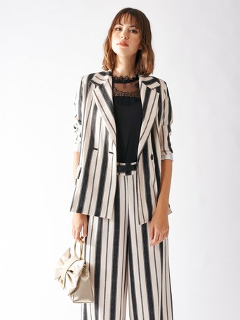 Striped Blazer var black - CFC0097186003B473