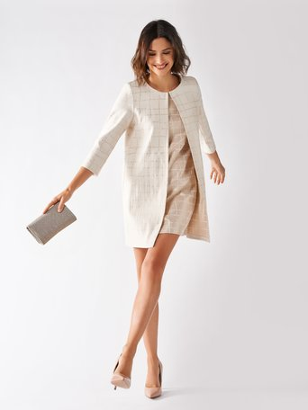 Chic Duster Coat Beige - CFC0097062003B101