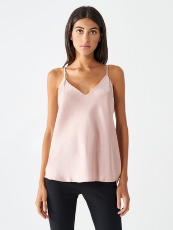 Satin Tank Top Pink - CFC0096657003B221