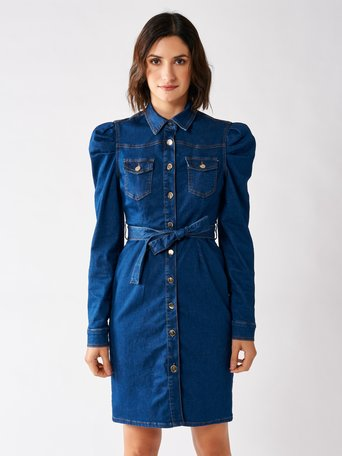 Short Denim Dress Blue - CFC0096860003B041