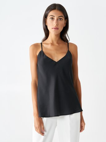 Satin Tank Top Black - CFC0096657003B001