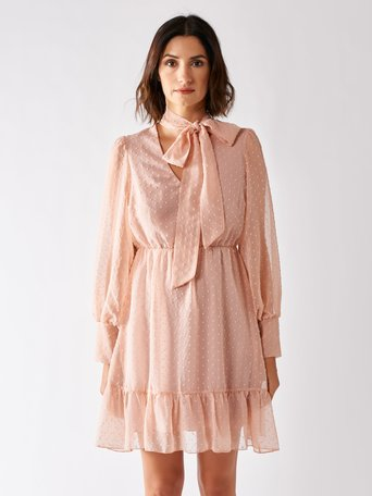 Short Plumetis Dress Pink - CFC0097199003B221