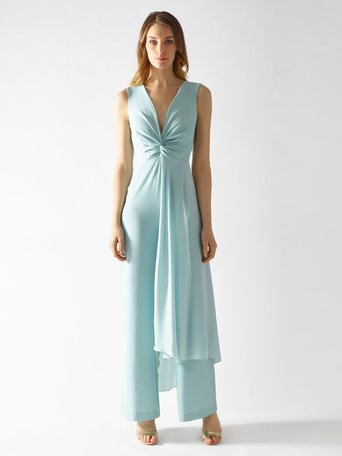 Palazzo suit with Voile green mint - CFC0097324003B411