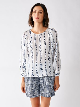 Printed Blouse var blue - CFC0097170003B440