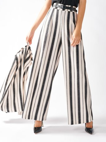 Striped Palazzo Trousers var black - CFC0097196003B473