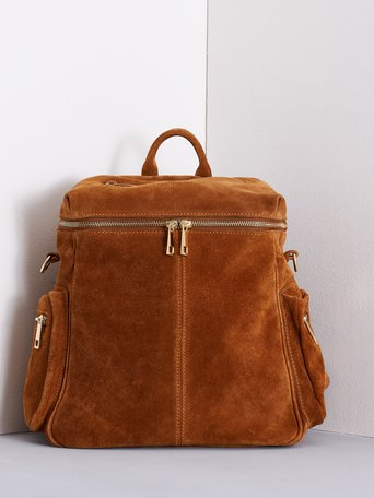 Fringed Suede Backpack brown - ACV0012501003B402