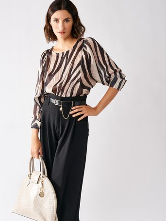 Animal Print Blouse var black - CFC0017153002B473