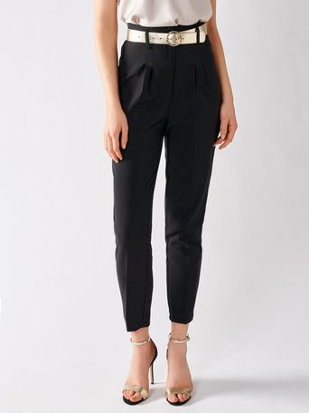 High Waist Cigarette Pants Black - CFC0017183002B001