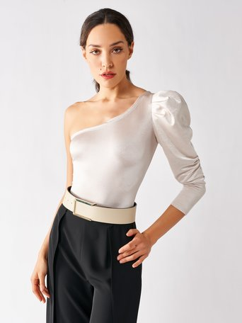 One-shoulder Body Ivory - CFC0097261003B038