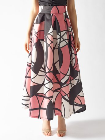 Long Printed Skirt var. Pink - CFC0096916003B476