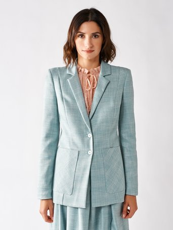 Prince of Wales Blazer var green mint - CFC0096880003B489