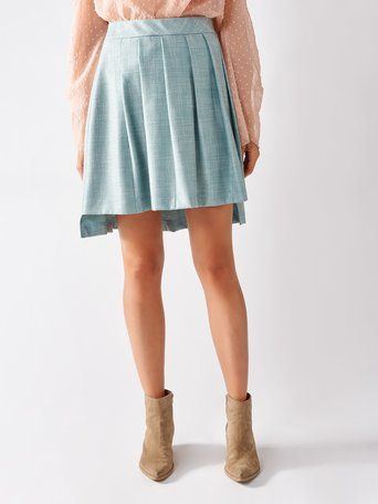 Short Skirt in Prince of Wales var green mint - CFC0096896003B489