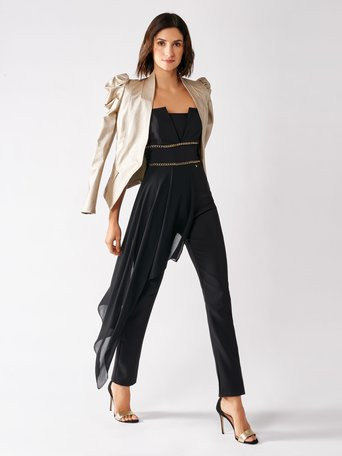 Jumpsuit with Panel Black - CFC0096957003B001