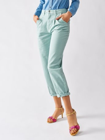 Cotton Trousers green mint - CFC0096983003B411