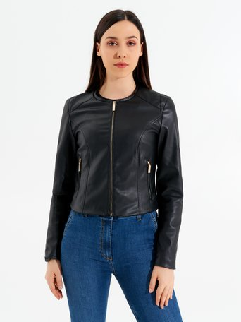 Faux Leather Jacket Black - CFC0095538003B001