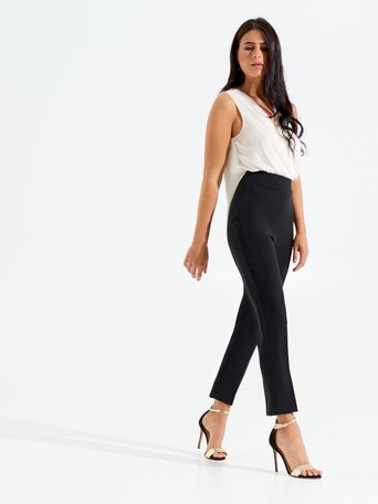 Two-tone Elegant Jumpsuit Black - CFC0098047003B001