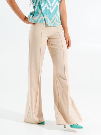 Flare Trousers with Buttons Sand - CFC0098401003B115