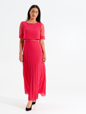 Daydream Long Plissé Dress fuxia - CFC0097782003B238