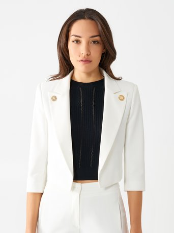 Short Jacket with Gold-coloured Buttons White - CFC0098396003B021