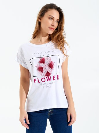 Flower T-Shirt White - CFC0097922003B021