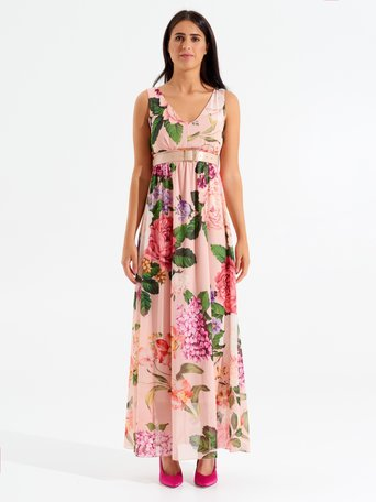 Long Floral Dress var. Pink - CFC0098564003B476